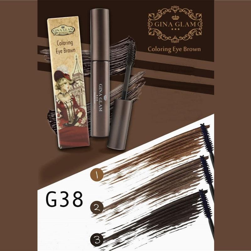Bảng màu Chuốt Mày Gina Glam Coloring Eye Brown 7g