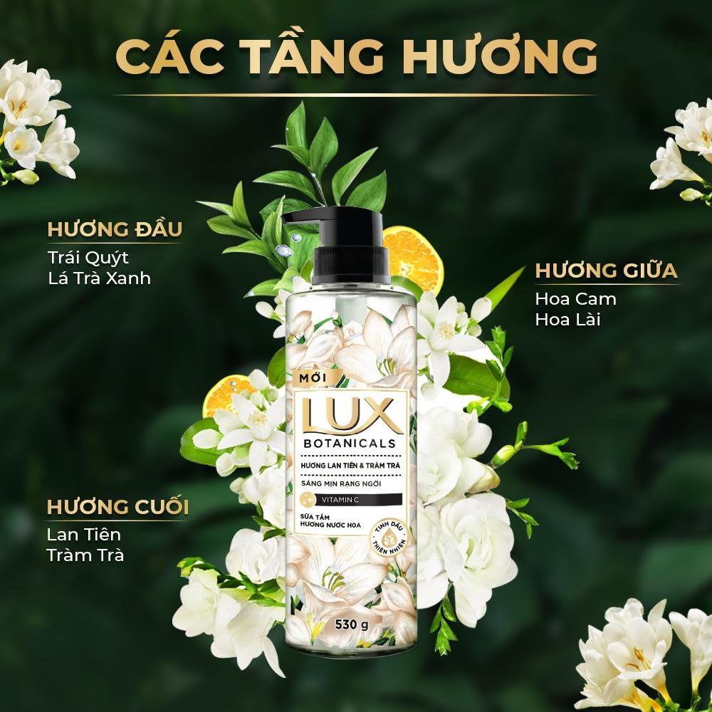 Combo 2 Sữa Tắm Lux Botanicals Lan Tiên & Tràm Trà 530g
