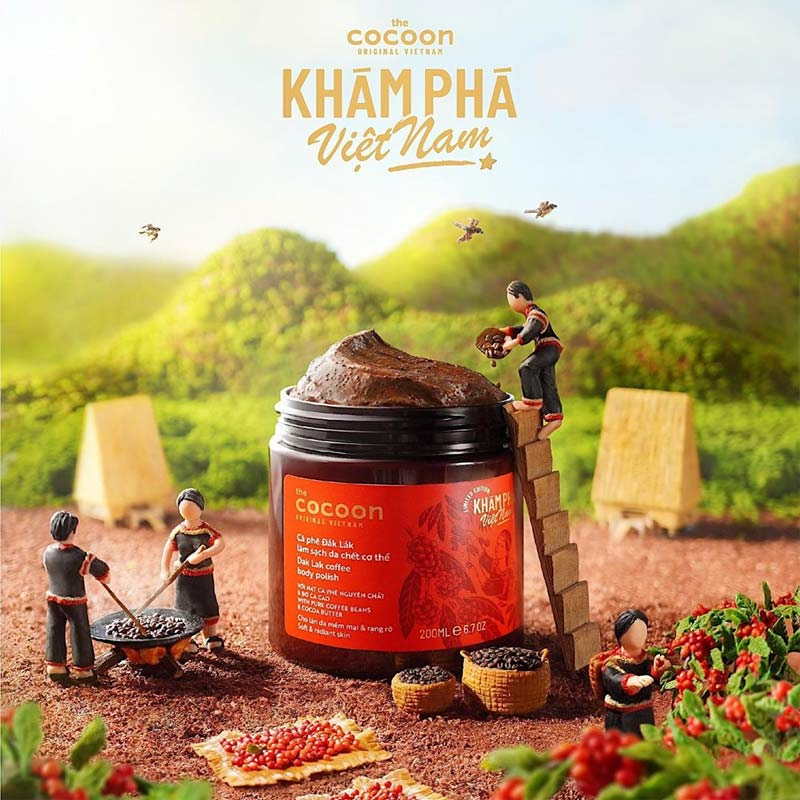 Cà Phê Đắk Lắk Tẩy Da Chết Toàn Thân Cocoon Dak Lak Coffee Body Polish 200ml (Bản Giới Hạn)