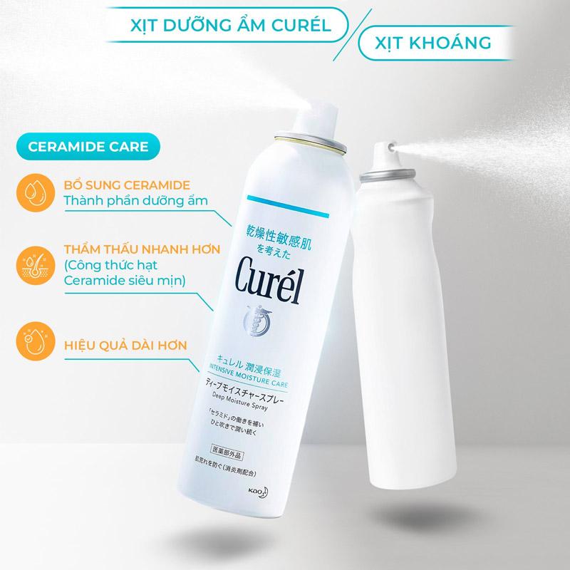 Xịt Dưỡng Da Curél Cấp Ẩm Chuyên Sâu Intensive Moisture Care Deep Moisture Spray 60g