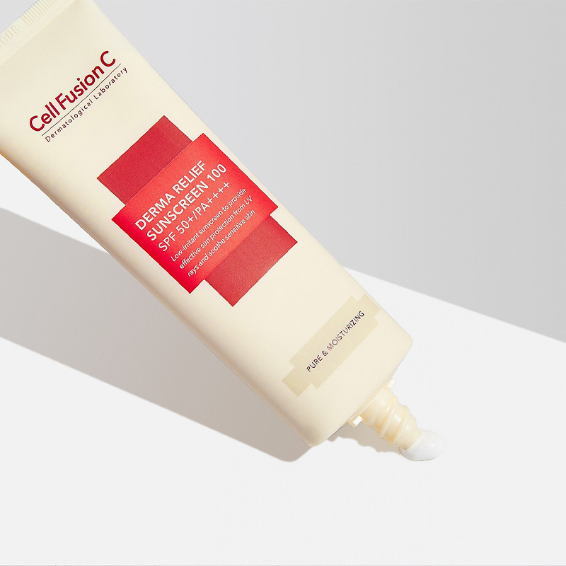 Kết cấu Kem Chống Nắng Céll Fùsion C Derma Relief Sunscreen 100 SPF50+/PA++++