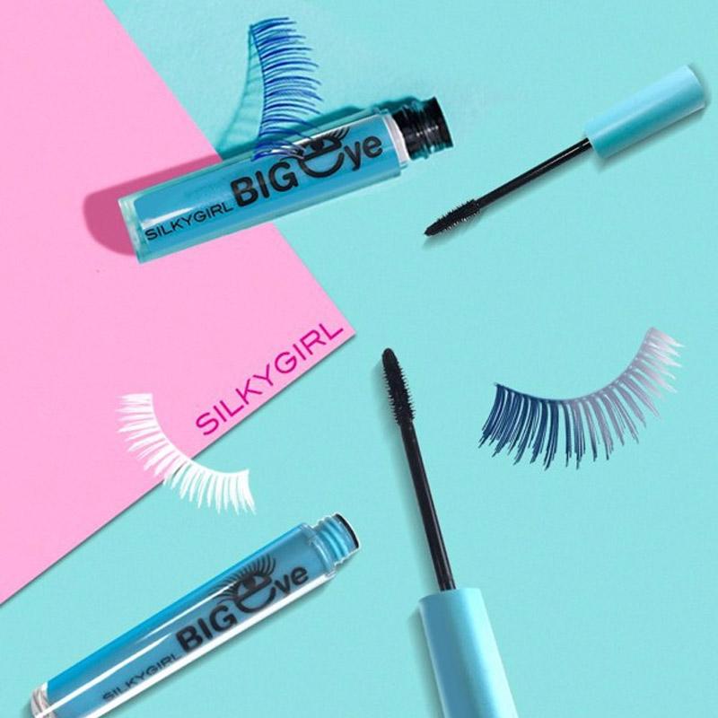 Masara SILKYGIRL Làm Dài Và Cong Mi Màu Đen 01 Blackest Black Big Eye Collagen Waterproof Mascara 5ml
