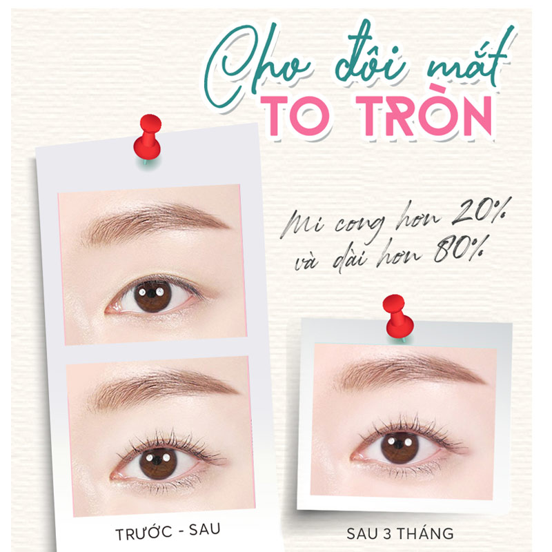 Masara SILKYGIRL Làm Dài Và Cong Mi Màu Đen 01 Blackest Black Big Eye Collagen Waterproof Mascara