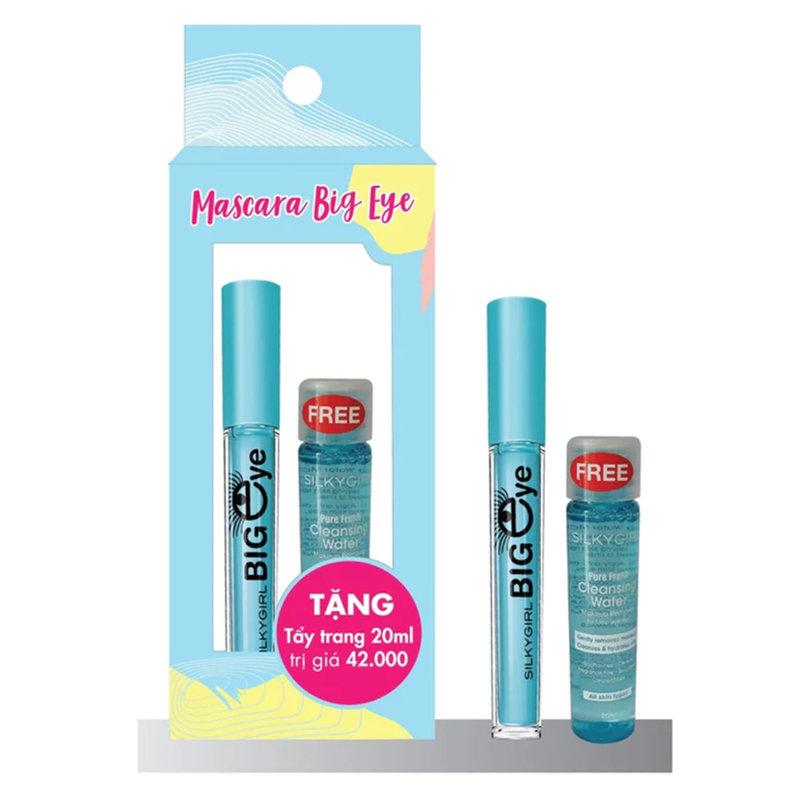 Combo SILKYGIRL Mascara Collagen 5ml + Tặng Nước Tẩy Trang 20ml
