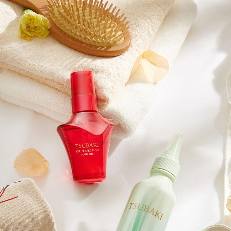 Dầu Dưỡng Tóc Tsubaki Hỗ Trợ Phục Hồi Hư Tổn Oil Perfection Hair Oil 50ml