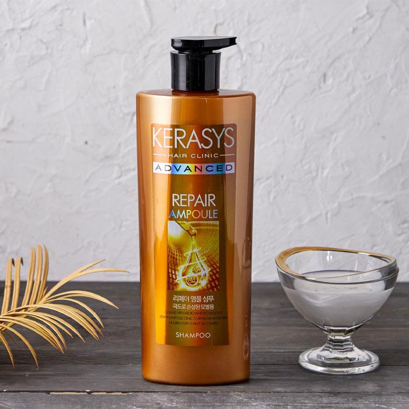 Dầu Gội Kerasys Hỗ Trợ Phục Hồi Tóc Hư Tổn Advanced Ampoule Shampoo Repair 600ml