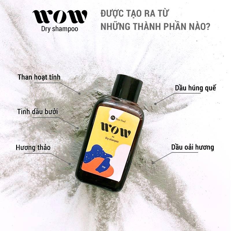 Thành phần Dầu Gội Khô BareSoul WOW Dry Shampoo 50g