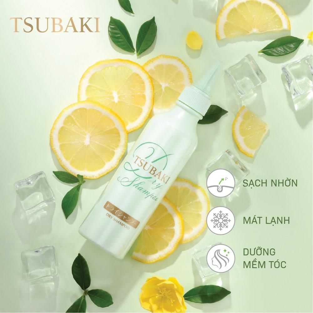 Công dụng Dầu Gội Khô Tsubaki Dry Shampoo 180ml