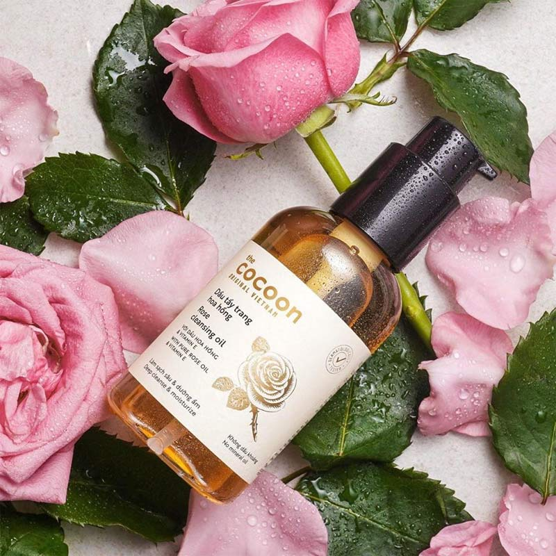 Dầu Tẩy Trang Cocoon Chiết Xuất Hoa Hồng Rose Cleansing Oil