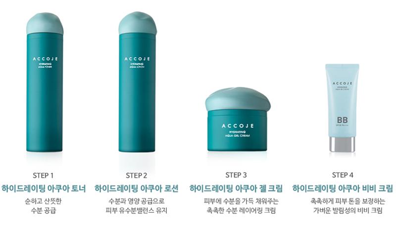 Qui trình Gel Dưỡng Accoje Cấp Ẩm Chuyên Sâu Hydrating Aqua Gel Cream 50ml