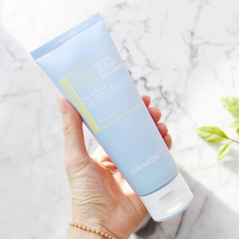 Packaging Gel Rửa Mặt Sur.Medic+ Dịu Nhẹ & Cấp Ẩm Cho Da PH Azulene Soothing PH Cleanser 150ml