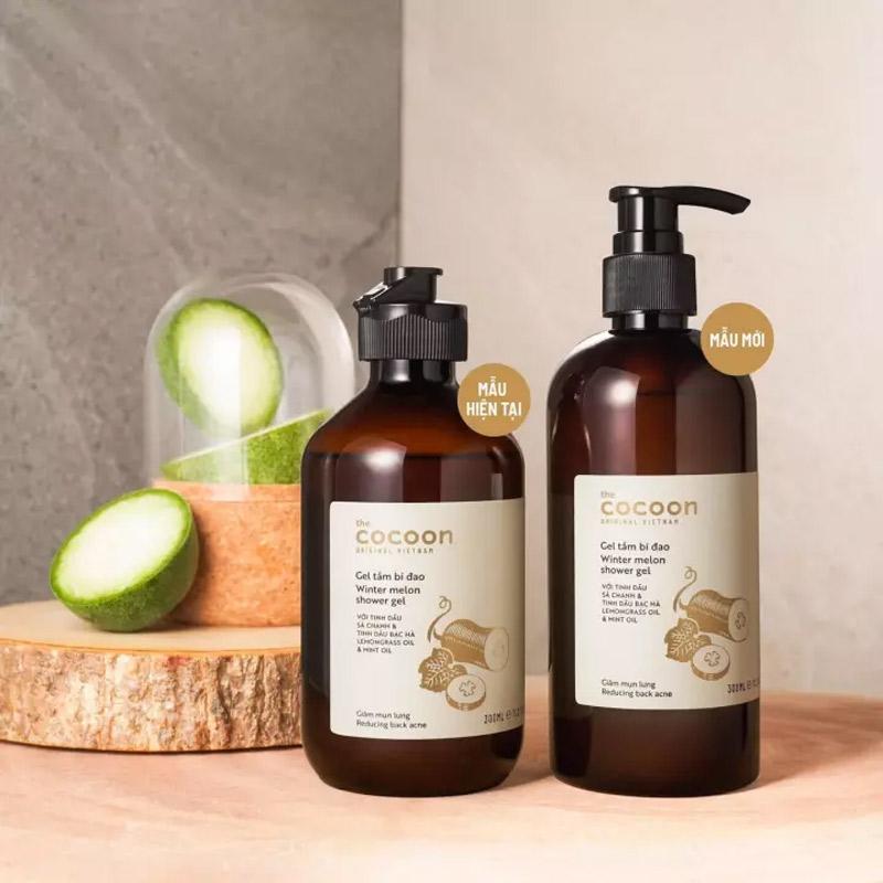 Gel Tắm Bí Đao Làm Giảm Mụn Lưng Cocoon Winter Melon Shower Gel 300ml
