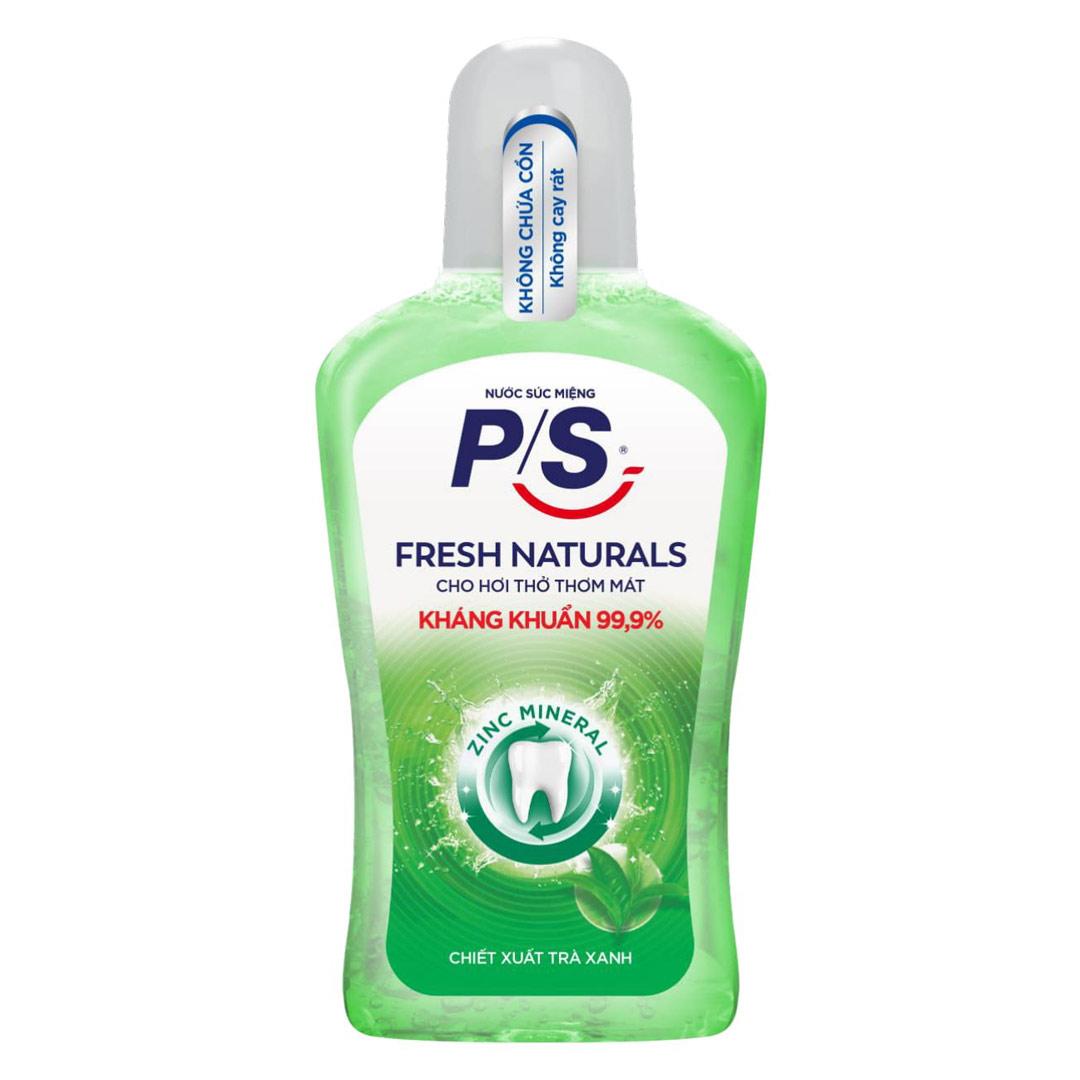 Nước Súc Miệng P/S Kháng Khuẩn Fresh Naturals 500ml