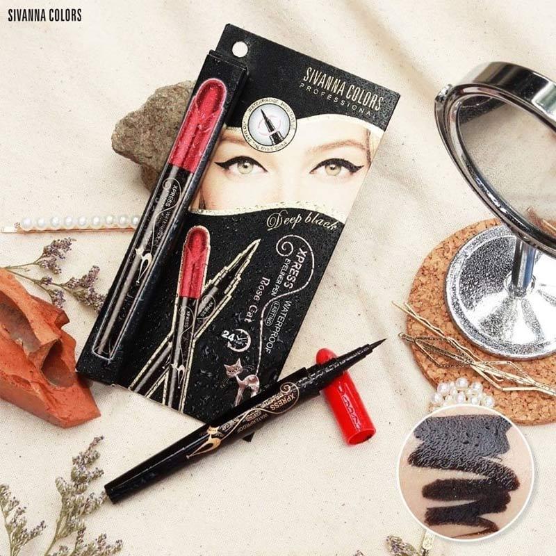 Kẻ Mắt Sivanna Colors Xpress Eyeliner Pen Màu Đen