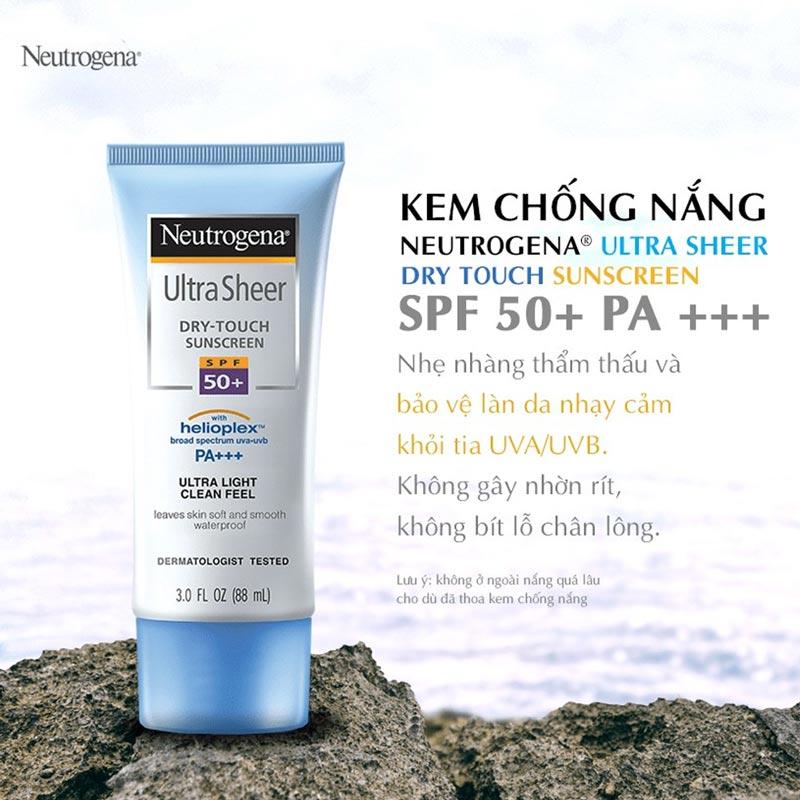 Kem Chống Nắng Neutrogena Ultra Sheer SPF50