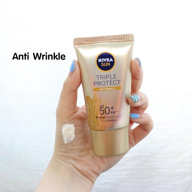 Kem Chống Nắng Nivea Triple Protect Anti Wrinkle SPF50+ PA+++ 40ml