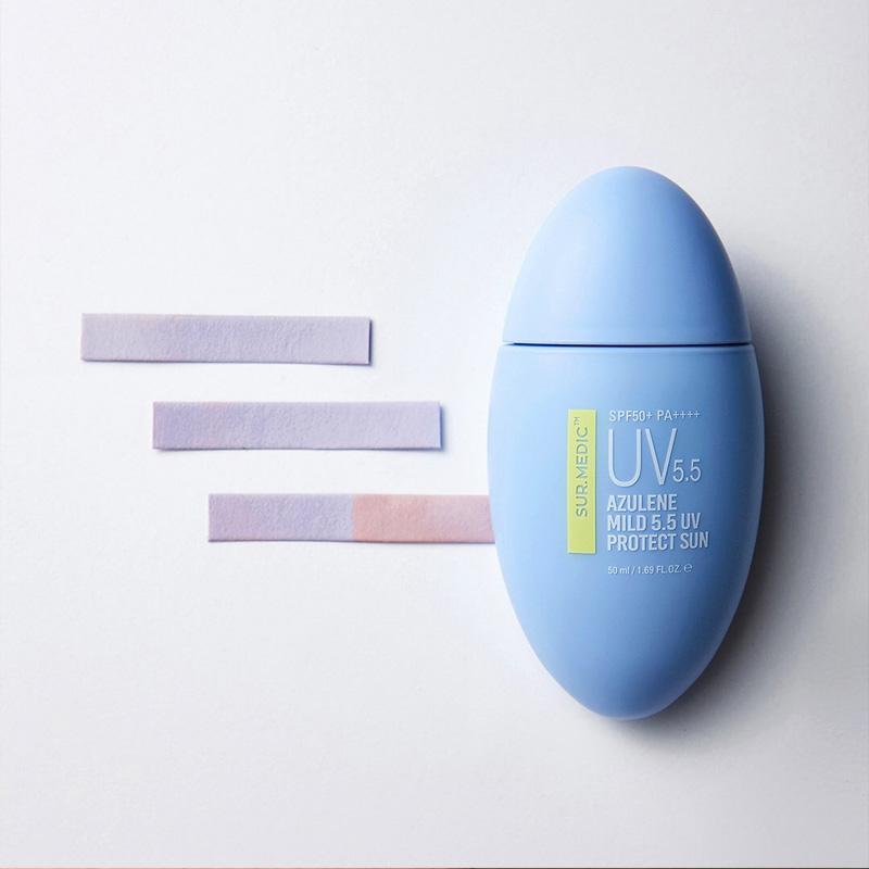 Kem Chống Nắng Sur.Medic+ Dịu Nhẹ Cho Mọi Loại Da Azulene Mild 5.5 UV Protect Sun SPF50+/PA++++ 50ml