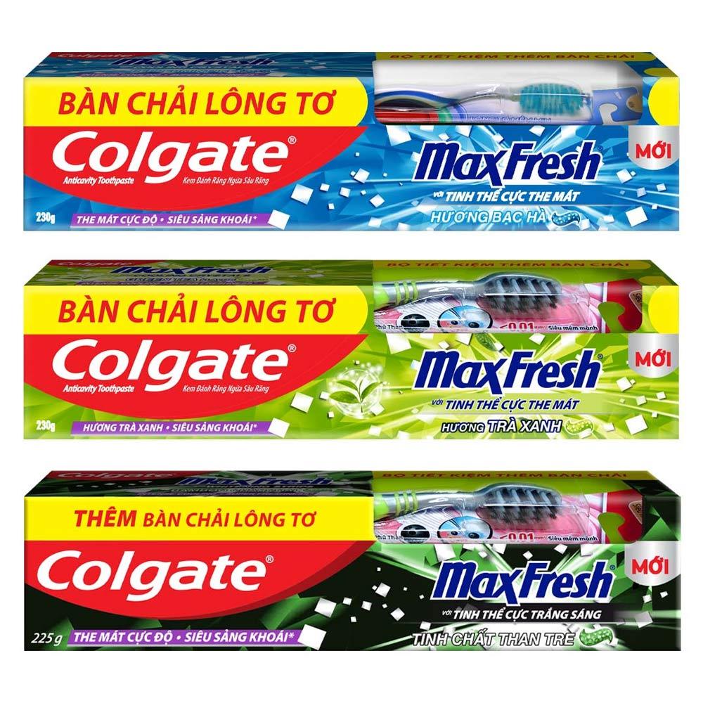 Mua Kem Đánh Răng Colgate Maxfresh Tặng Bàn Chải Đánh Răng