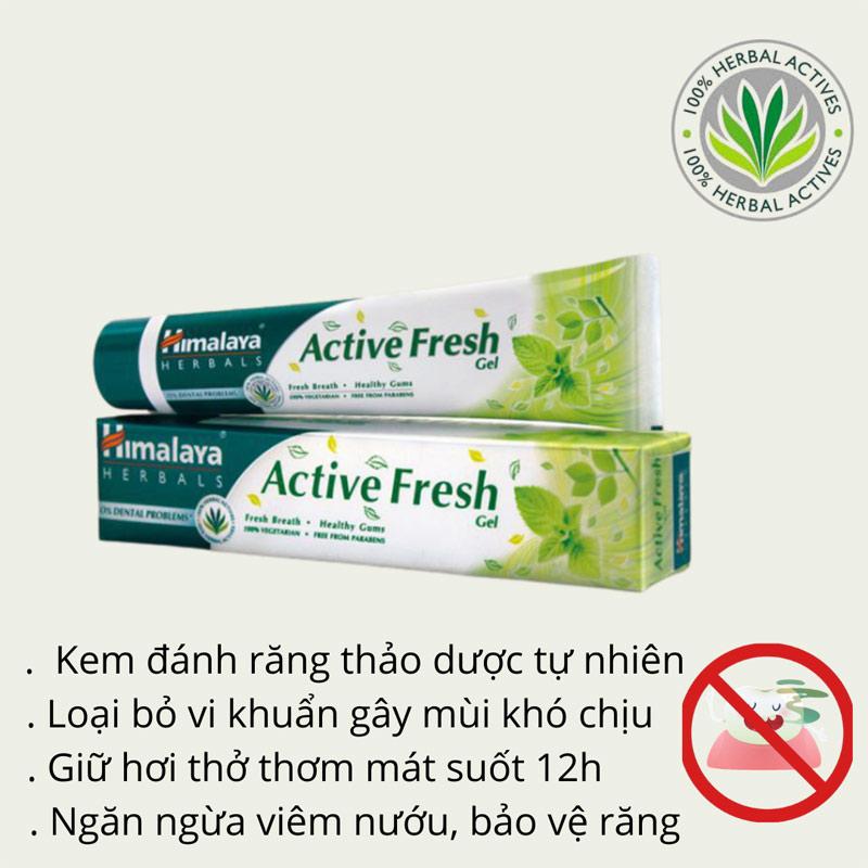 Kem Đánh Răng Thảo Mộc Himalaya Herbals Active Fresh Toothpaste 100g