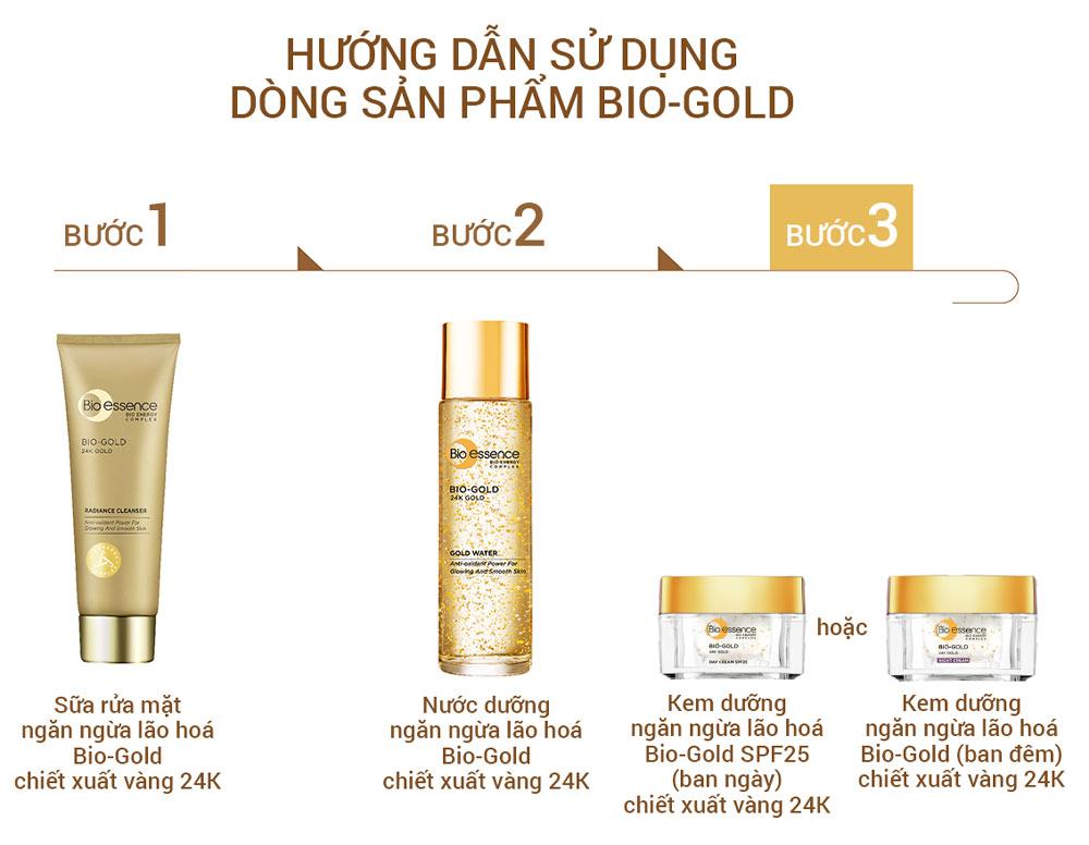HDSD Kem Dưỡng Bio-essence Vàng 24K Ngừa Lão Hóa Ban Đêm 40g