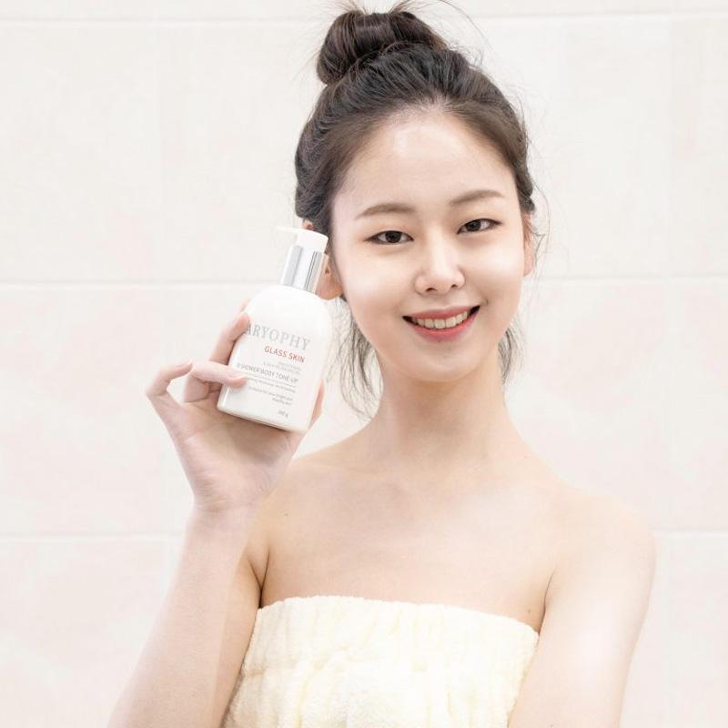 Kem Dưỡng Caryophy Trắng Sáng Da Body Che Khuyết Điểm Glass Skin 3 in 1 Shower Tone Up hiệu quả không