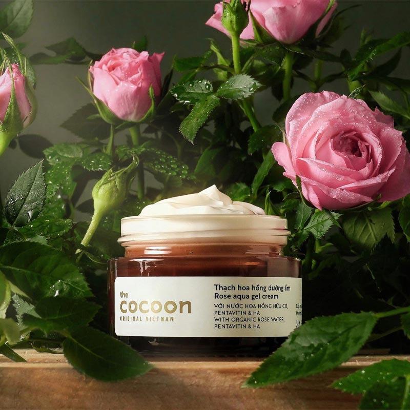 Kem Dưỡng Cocoon Dưỡng Ẩm Dạng Thạch Từ Hoa Hồng Rose Aqua gel Cream 30ml