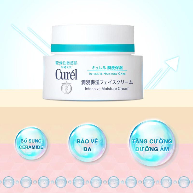 Kem Dưỡng Curél Cấp Ẩm Chuyên Sâu Intensive Moisture Cream 40g