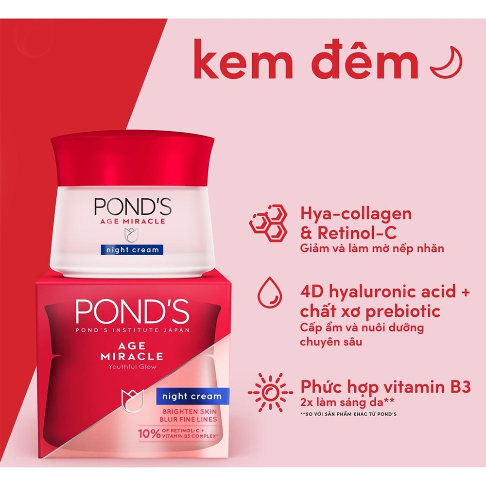 Kem Dưỡng Da Pond's Age Miracle Night Cream 50g