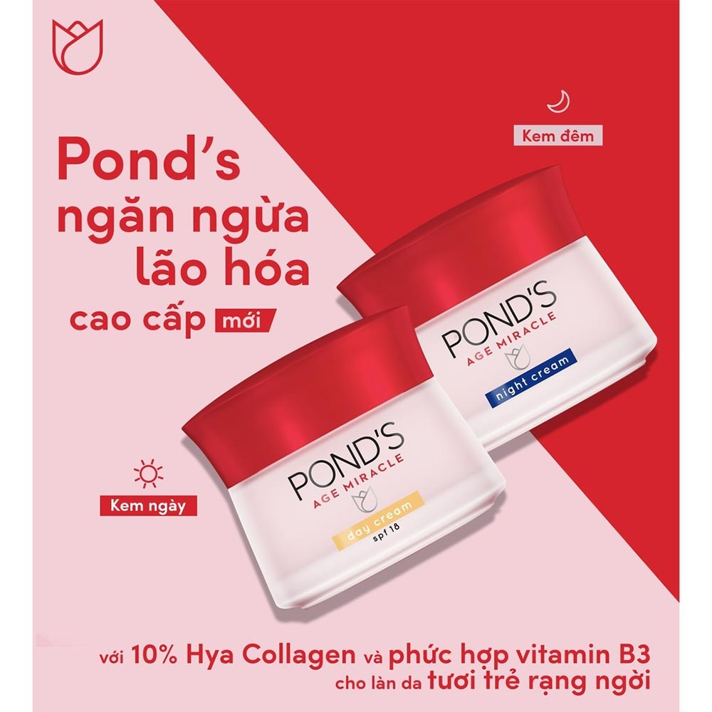 Kem Dưỡng Da Pond's Ngăn Ngừa Lão Hoá 50g