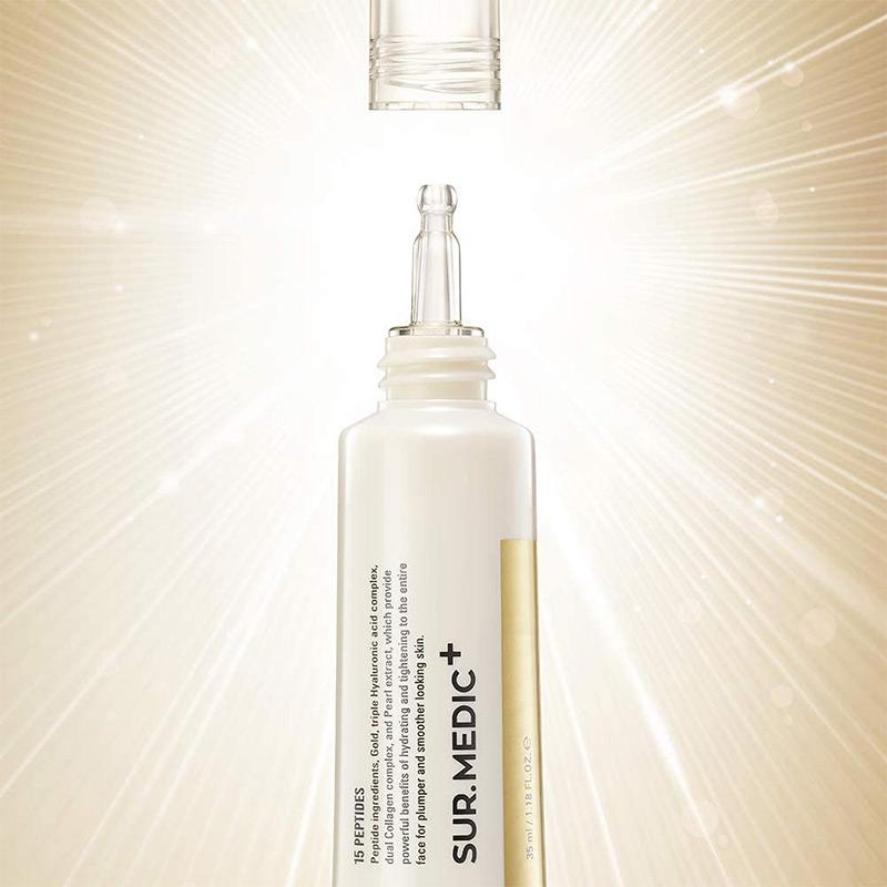 Packaging Kem Dưỡng Mắt Sur.Medic+ Giảm Nếp Nhăn, Ngăn Lão Hóa Perfection 100™ All In One Facial Eye Cream 35ml