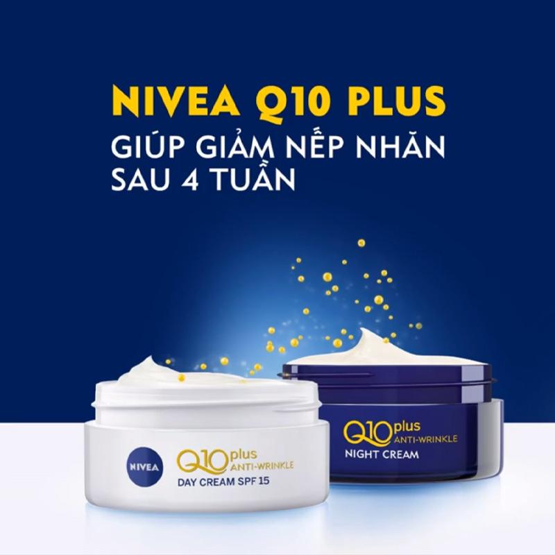 Kem Dưỡng Nivea Ngăn Ngừa Lão Hóa Da Ban Đêm Q10 Plus Anti-Wrinkle Night Cream 50ml