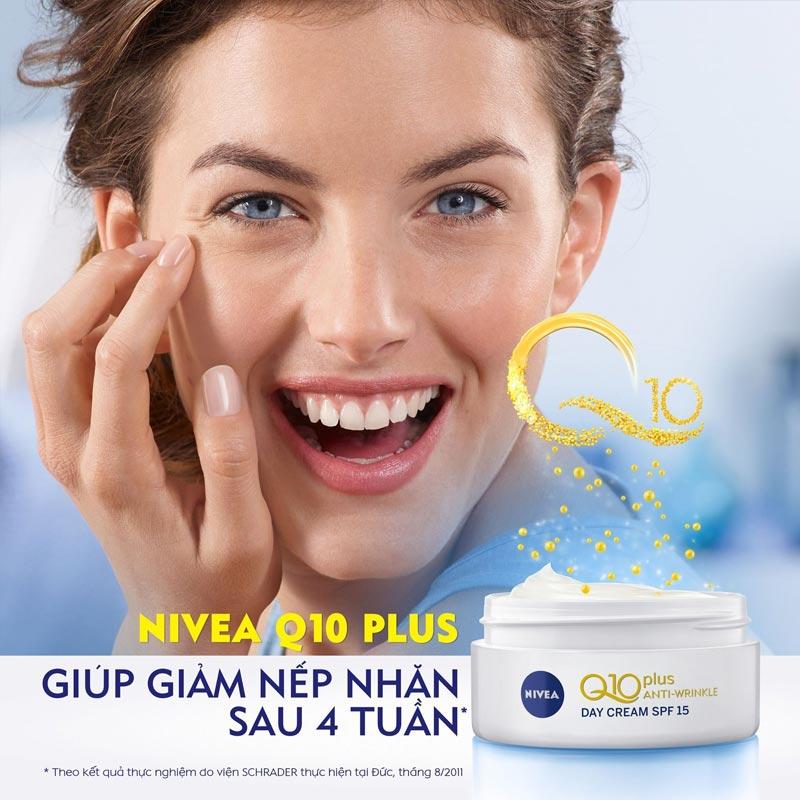 Kem Dưỡng Nivea Ngăn Ngừa Lão Hóa Da Ban Ngày SPF15 Q10 Plus Anti Wrinkle Day Creme 50ml