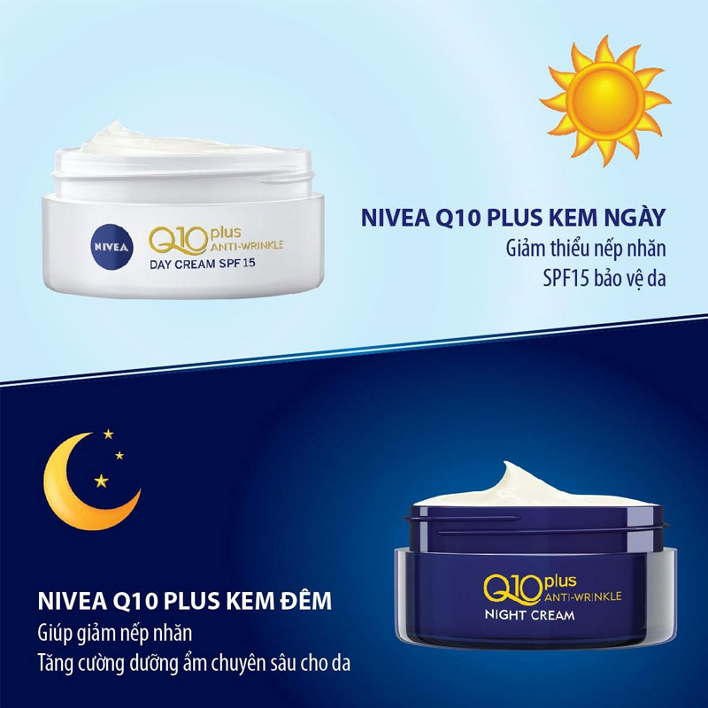 Kem Dưỡng Nivea Ngăn Ngừa Lão Hóa Da Ban Ngày SPF15 Q10 Plus Anti Wrinkle Day Creme