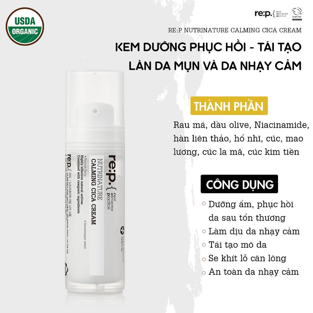Kem Dưỡng Re:p Nutrinature Calming Cica Cream 30ml