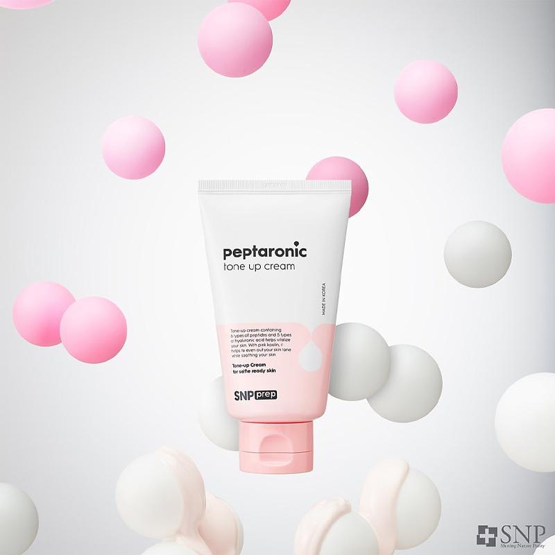 Kem Dưỡng SNP Nâng Tone Sáng Hồng, Dưỡng Ẩm Da PREP - Peptaronic Tone Up Cream 100ml