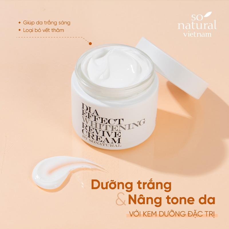 Kem Dưỡng So'Natural Dưỡng Sáng & Nâng Tông Da Dia Effect Whitening Revive Cream