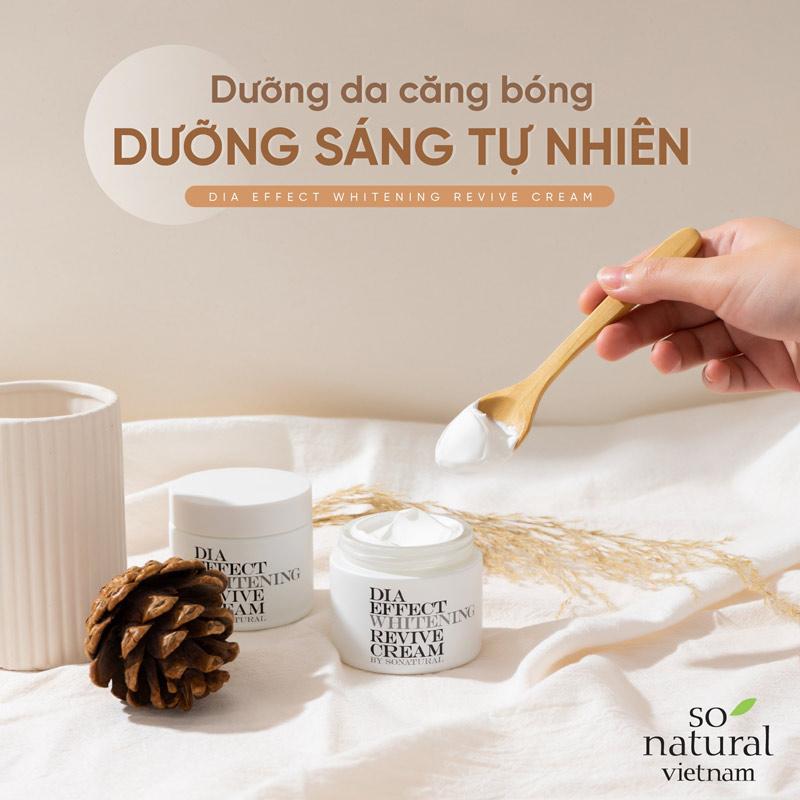 So'Natural Dia Effect Whitening Revive Cream 70ml Hasaki