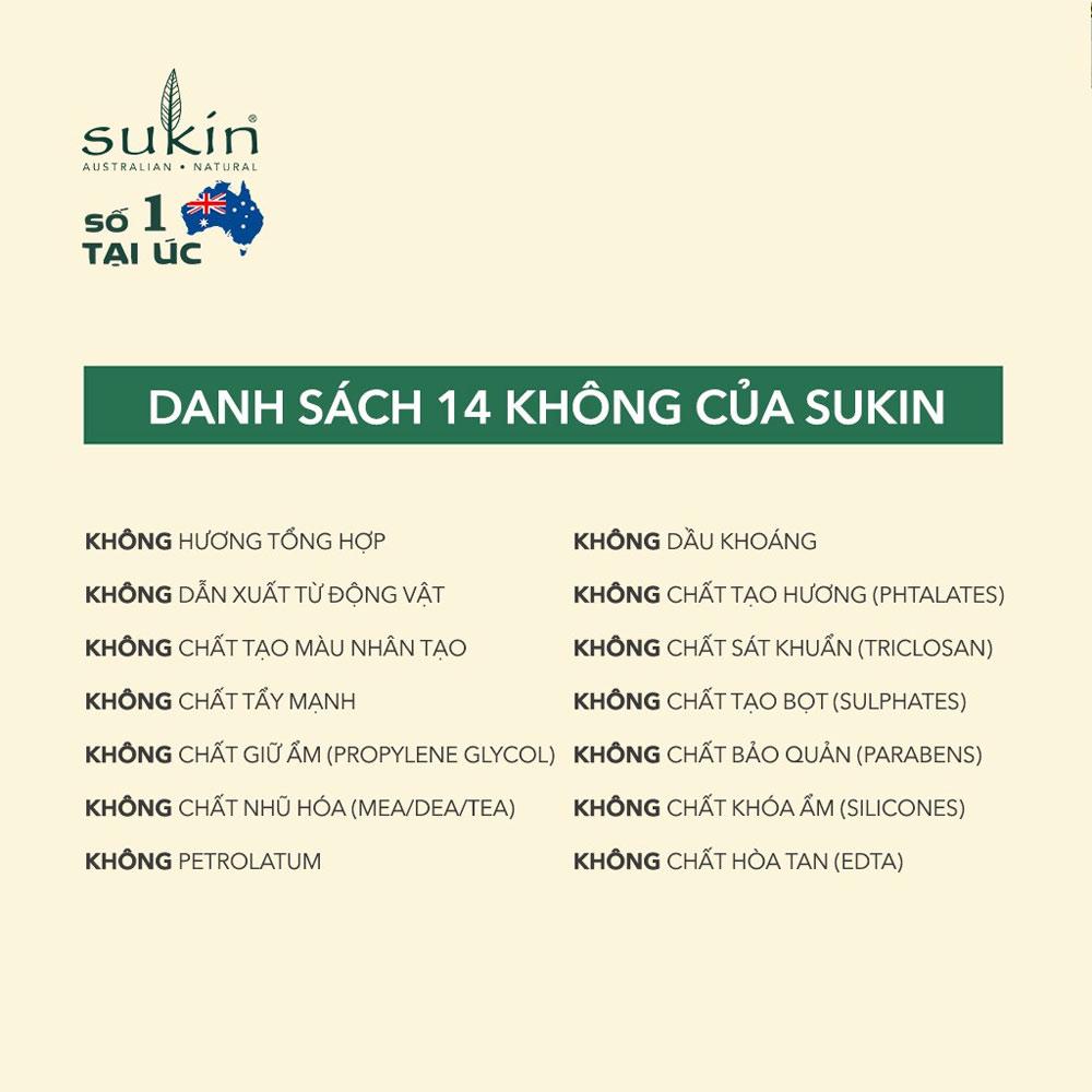 Độ an toàn kem dưỡng Sukin 125ml