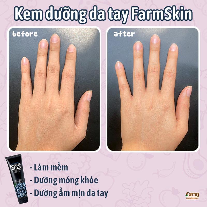 Kem Dưỡng Tay Farmskin Việt Quất Dưỡng Ẩm Dịu Nhẹ Superfood For Skin Hand Cream Blueberry 75ml