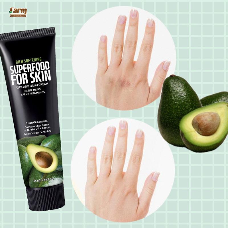 Kem Dưỡng Tay Farmskin Quả Bơ Làm Mềm Mịn Da Superfood For Skin Hand Cream – Avocado 75ml