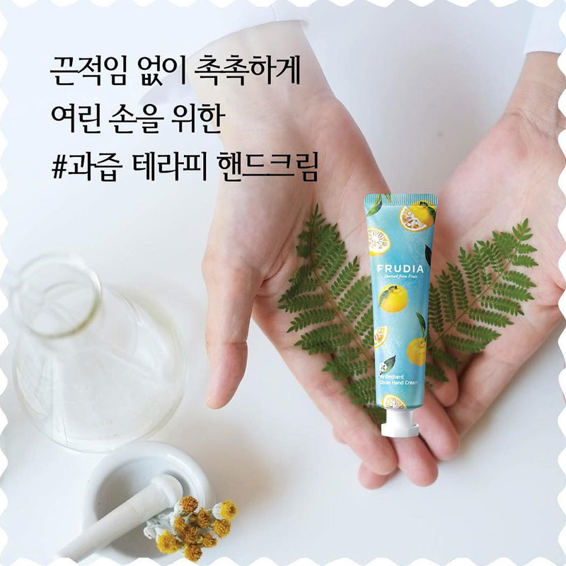 Kem Dưỡng Tay FRUDIA My Orchard Hand Cream Rich Nourishment 30ml chiết xuất cam quýt