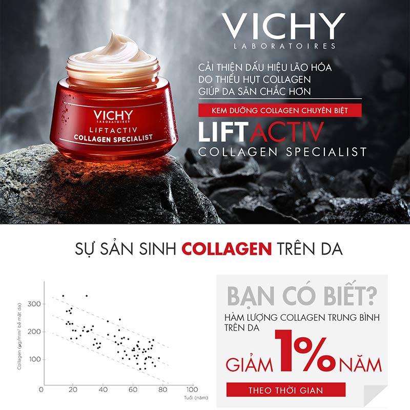 Kem Dưỡng Vichy Ngăn Ngừa Dấu Hiệu Lão Hóa Và Làm Săn Chắc Da Liftactiv Collagen Specialist