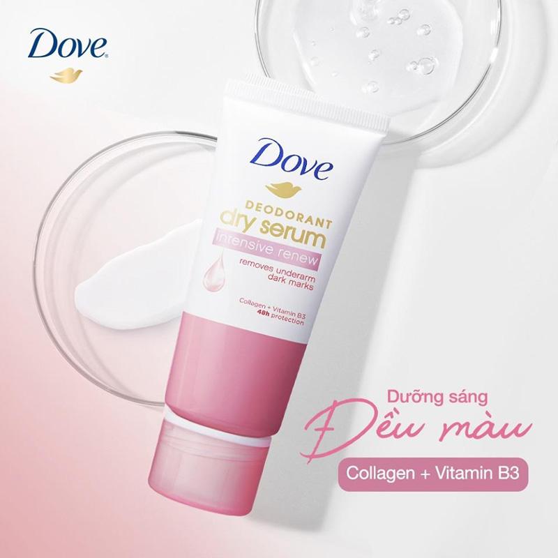 Kem Khử Mùi Dove Collagen & Vitamin B3 Sáng Mịn Đều Màu 50ml