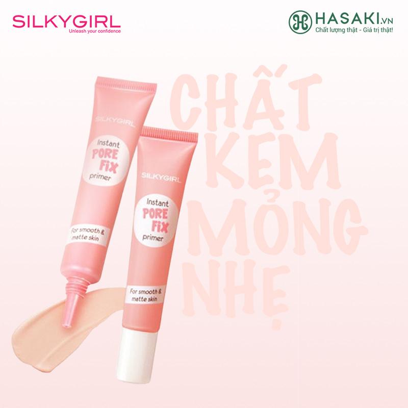 Kem Lót Che Lỗ Chân Lông SILKYGIRL Instant Pore Fix Primer Màu 01 Natural 15ml