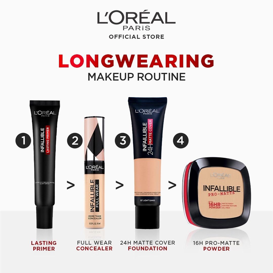Trình tự sử dụng Kem Lót L'Oréal Infallible Kiềm Dầu Bền Màu Lâu Trôi 30ml