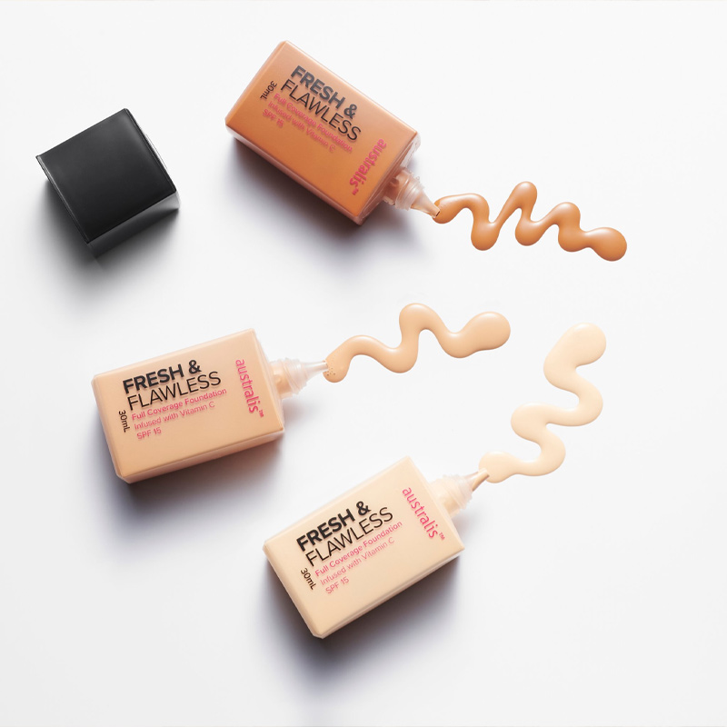 Texture Kem Nền Australis Siêu Nhẹ Fresh & Flawless Foundation 30ml