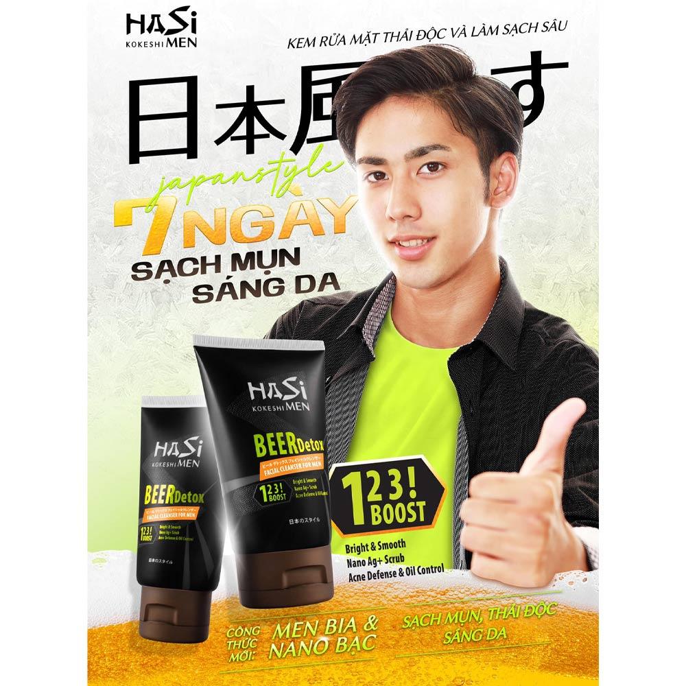 Hasi Kokeshi Beer Detox Facial Cleanser For Men