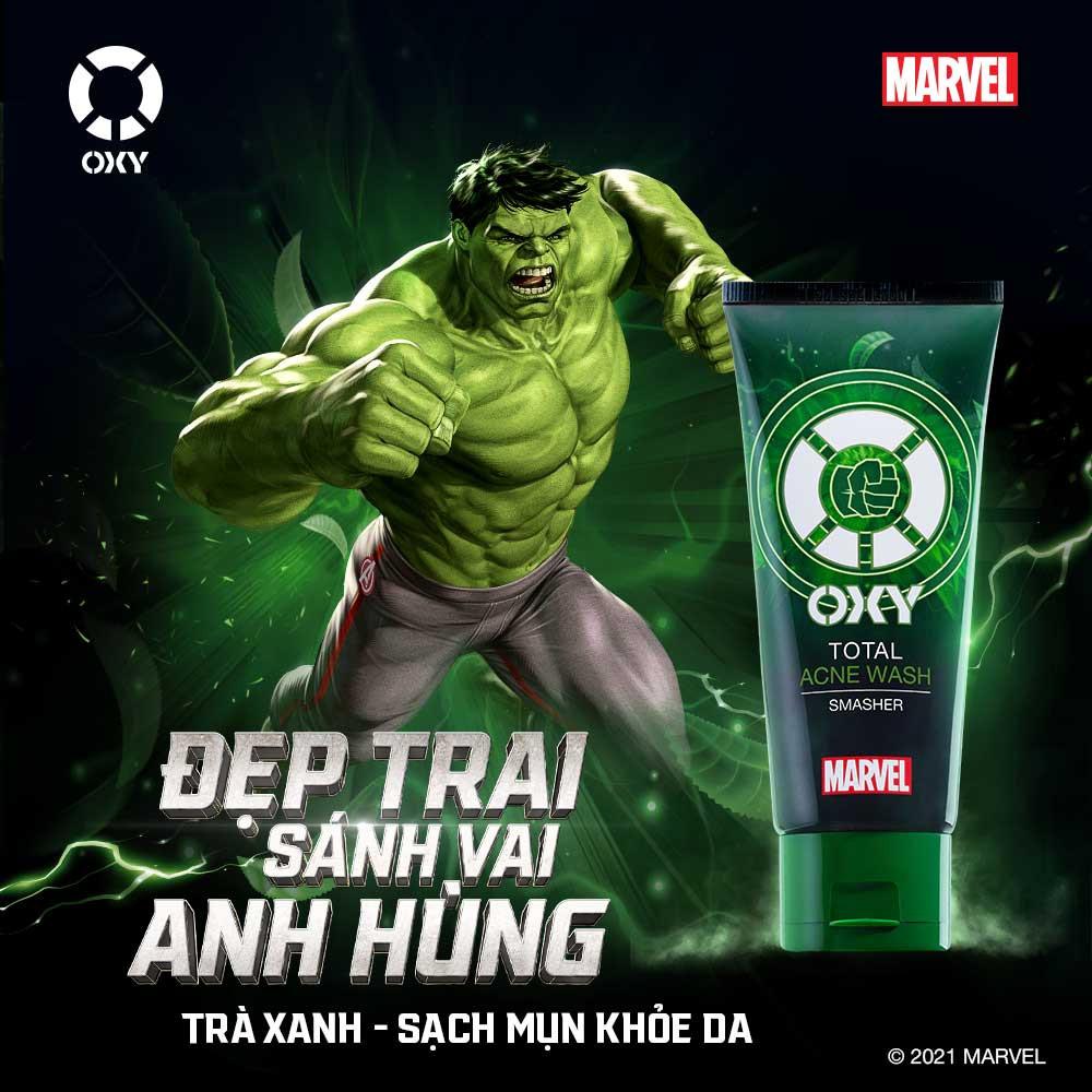 Kem Rửa Mặt Oxy Ngừa Mụn, Kiểm Soát Nhờn Phiên Bản Marvel 100g