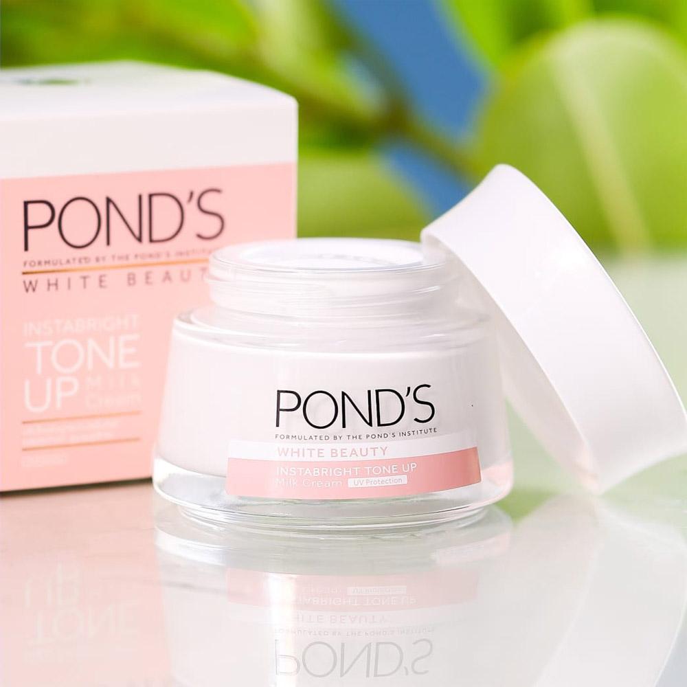 Kem Sữa Pond's White Beauty Instabright Tone Up Milk Cream 50g