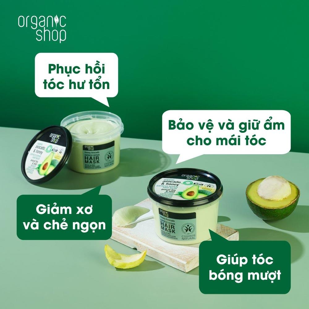 Công dụng Kem Ủ Tóc Organic Shop 250ml